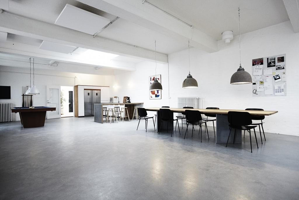 kontor og køkken